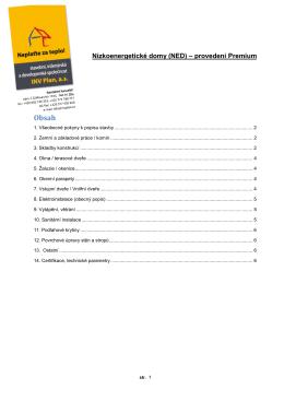 Podrobný popis standardu NED Premium.