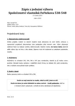 Zápis z jednání výboru – 6. ledna 2015
