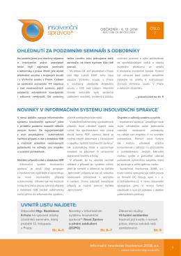 Newsletter č.7, ze dne 4.12.2014