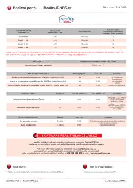 Ceník (od 2.4.2015) - Reality iDnes