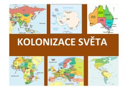 Kolonizace světa - mojespanelsko.cz