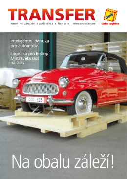 Inteligentní logistika pro automotiv Logistika pro E