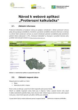 Protierozní kalkulačka - Geoportál SOWAC-GIS