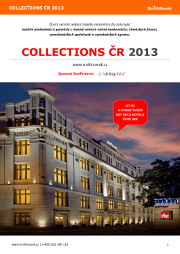 COLLECTIONS ČR 2013