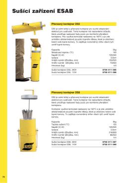 Sušící zařízení ESAB.pdf