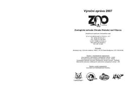 Výroční zpráva 2007 - ZOO Hluboká nad Vltavou