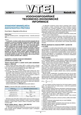4/2011 - Výzkumný ústav vodohospodářský T. G. Masaryka