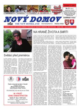 NA HRANĚ ŽIVOTA A SMRTI - Nový Domov – The New Homeland
