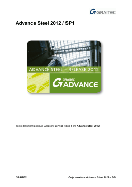 Advance Steel 2012 / SP1