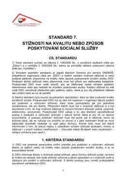 Standard DSO č. 7 - Domov pro seniory ONDRÁŠ, po Brušperk