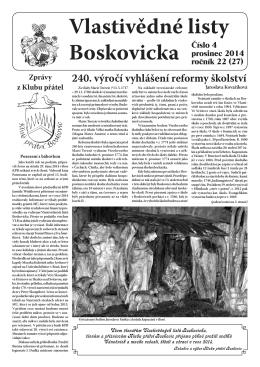Vlastivědné listy č. 4, 2014