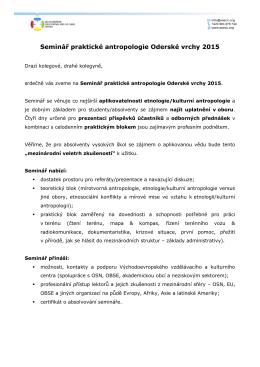 Program + instrukce