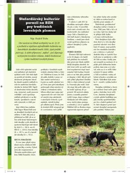 Stafordšírský bulteriér porazil na BZH psy tradičních loveckých plemen