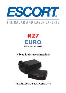 Manuál ke stažení ESCORT R27 EURO