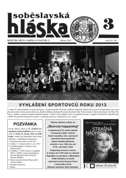 Březen 2014 - Město Soběslav
