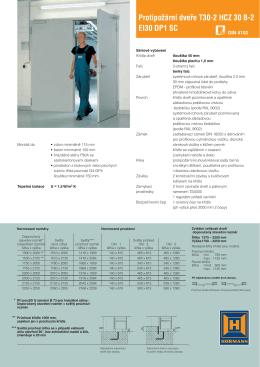 Protipožární dveře T30-2 HCZ 30 B