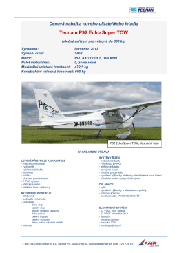 Tecnam P92 Echo Super TOW - F-air