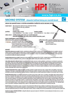 Michno System - montážní návod - HPI-CZ
