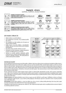 Technické informace LED Drivery