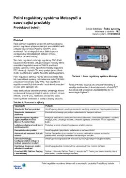 regulátory typu FEC - Johnson Controls Inc.