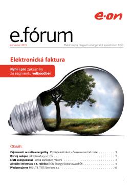 Elektronická faktura - ENERGY GLOBE Portal