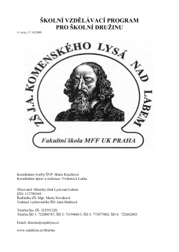 ŠVP ŠD.pdf - ZŠ. JA Komenského Lysá nad Labem