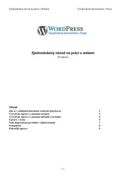 navod-wordpress - Vysoká škola ekonomická v Praze