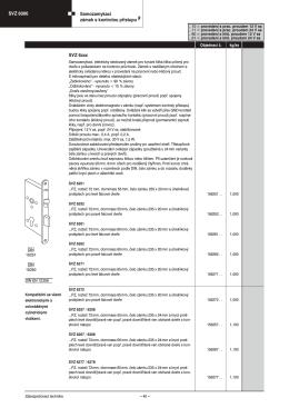SVZ 6000 Samozamykací zámek s kontrolou přístupu F SVZ 6xxx