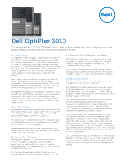 Počítač typu mini-tower Dell OptiPlex 3010 Příručka majitele