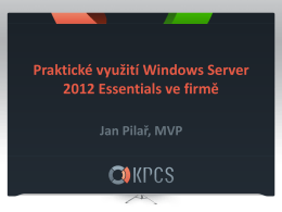 MS Fest 2013 - Windows Server 2012 Essentials