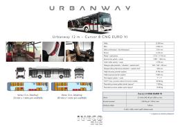 Urbanway 12 m – Cursor 8 CNG EURO VI