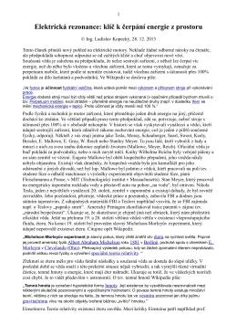 Elektrická rezonance: klíč k čerpání energie z prostoru
