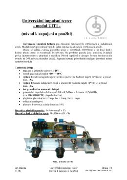 Univerzální impulsní tester - JB
