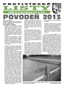 Protivínské listy 06/2013 (PDF, cca 2,5 MB)