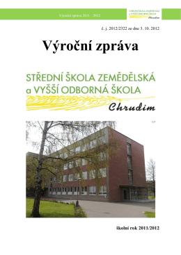 Výroční zpráva školní rok 2011/2012