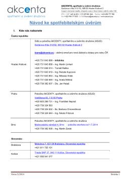 Úvěrová metodika_2014_spotřebitelské úvěry 3_2014