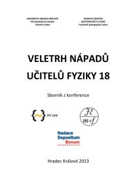 sborník v PDF - Veletrh nápadů učitelů fyziky