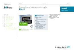 Katalogový list RIA15 - E