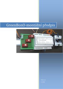 GreenBonO-montážní předpis