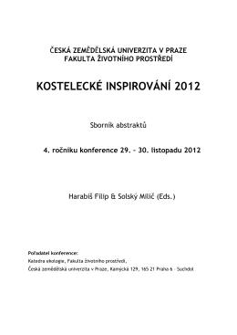2012 - Fakulta životního prostředí - Česká zemědělská univerzita v
