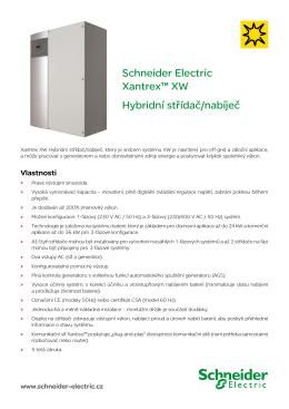 Hybridní střídač/nabíječ XW - Elektronický katalog Schneider Electric
