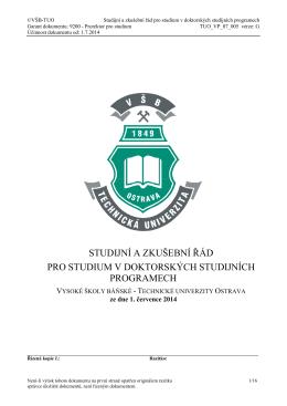 Doktorský - Vysoká škola báňská