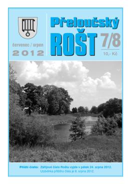 Přeloučský rošt č. 07-08/2012