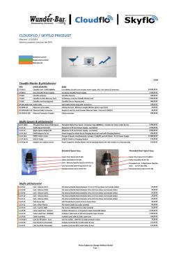 Ceník nabízených produktů