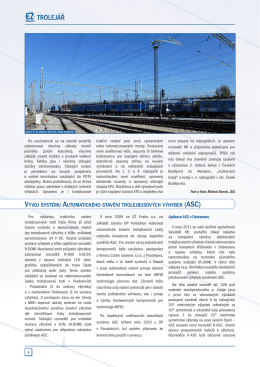 TROLEJÁŘ - Elektrizace železnic Praha as