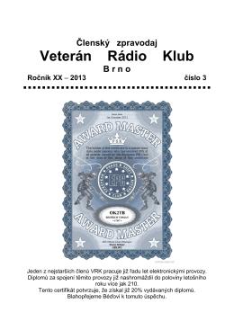 3/2013 - Veterán Radio Klub