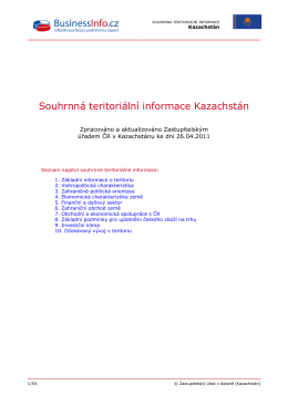 Souhrnná teritoriální informace Kazachstán