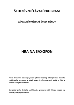 HRA NA SAXOFON