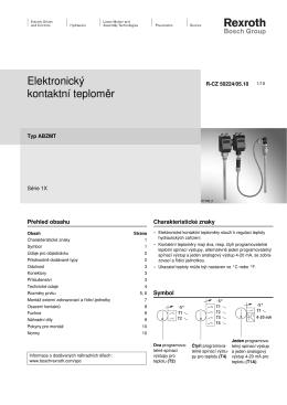 Elektronický kontaktní teploměr