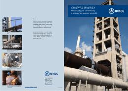Produktový leták - cementárny a zpracování minerálů